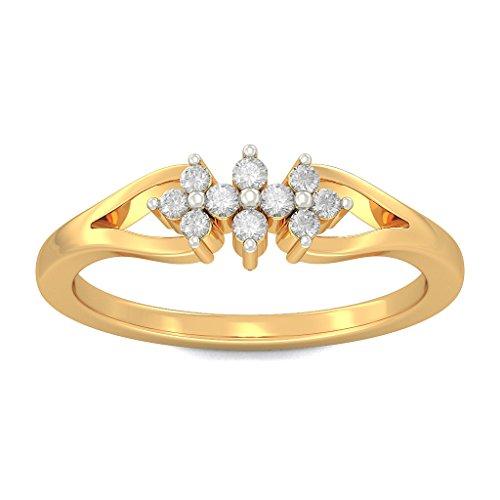 Or jaune 18K, 0,14carat Diamant Blanc (IJ   SI) en diamant