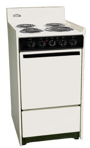 SEM110C 20 Freestanding Electric Range with 4 Burners 2.46 Cu. ft. Capacity Manual Clean Storage Drawer Broiler in Oven & Porcelain Construction in Bisque