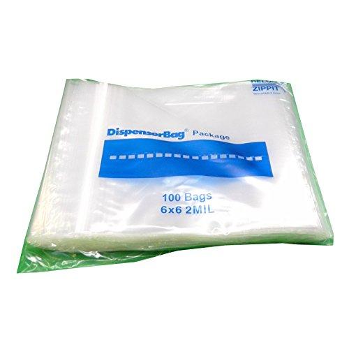 (2MIL' Fantapak Reloc Zippit Resealable Polypropylene Sandwich Bag Clear, 6