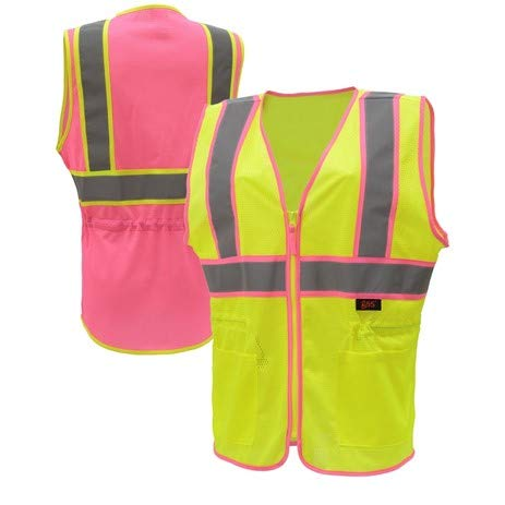 womens-safety-vest-ladies-two-tone-hi-vis-vests-polyester-mesh-with-pockets-and-zipper-closure-ansi-107-class-2-compliant-sm-lime