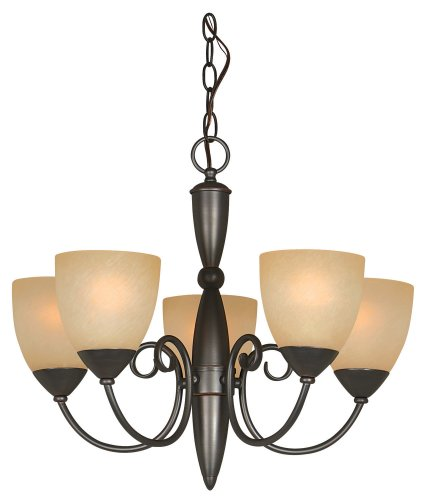 - Hardware House 543728 Berkshire 21-Inch by 18-Inch Chandelier, Classic Bronze