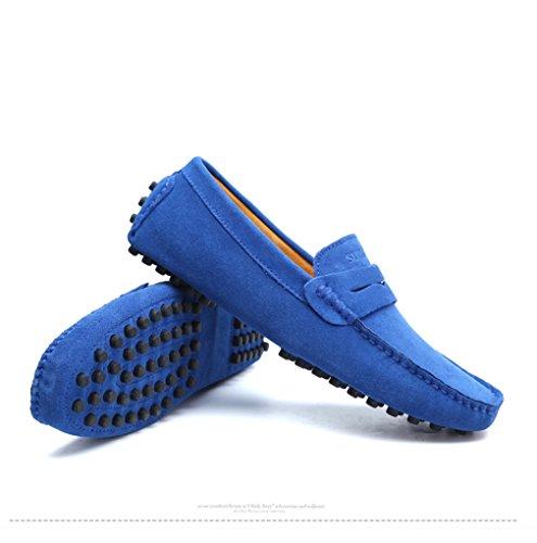Driving Uomo pelle Moda Mocassini Scarpe Mocassini morbidi Navy Flats Shoes in Estate Uomo Style vera Iqwzq7F