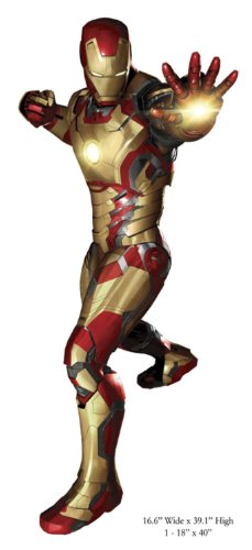 Marvel Superheroes Comic - The Avengers - Iron Man with Autonomous Prehensile Propulsion Suit Mark 42 Giant Wall Decal Sticker ()