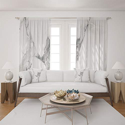 2 Panel Set Satin Window Drapes Living Room Curtains and 2 Pillowcases,Pattern Natural Textured Architectural Background,The perfect combination of curtains and pillows makes your living room warmer -