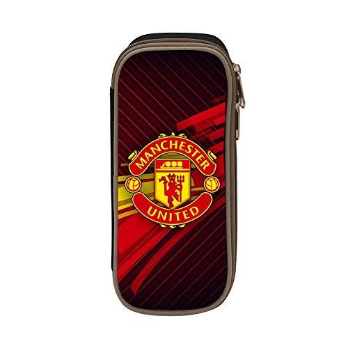 GIGIBO The Manchester United Students Canvas Pencil Case Durable Zipper Pen Bag Black
