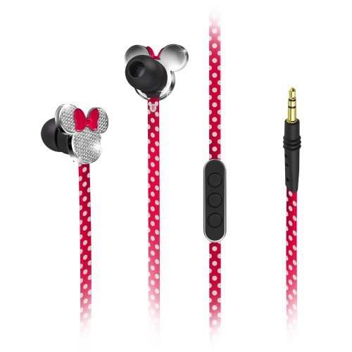 Minnie Mouse Fashion Earbuds with in-line mic, MF-M18