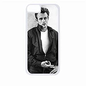 James Dean- Hard White Plastic Snap - On Case-Apple Iphone 6 Only - Great Quality!