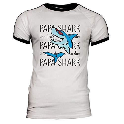 Papa Shark Doo Doo Doo Mens Soccer Jersey