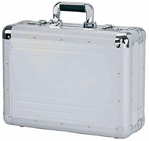 Alumaxx Aluminium Akten-Koffer; Attache-Koffer verschließbar - verstärkte Ecken, robuster Businesskoffer, schlichtes, elegantes Design Silber Matt