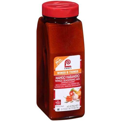 Lawrys Mango Habanero Wing Seasoning, 21.75 Ounce -- 6 per case. by Lawry's