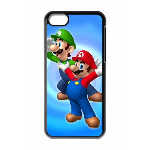 K9U73 Super Mario P9X8GA cas d'coque iPhone de téléphone cellulaire 5c couvercle coque noire WR8EPV4FQ