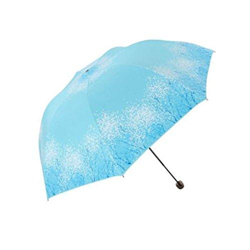 sun umbrella, black glue anti UV coating, aluminum alloy umbrella holder, gift boutique, outdoor sunshade, sun block, rain umbrella (beige) by Aviss