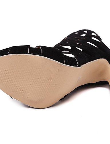 LFNLYX Zapatos de mujer-Tacón Plano-Comfort / Innovador / Botas a la Moda / Zapatos y Bolsos a Juego-Sandalias / Botas / Sneakers a la Moda / Black