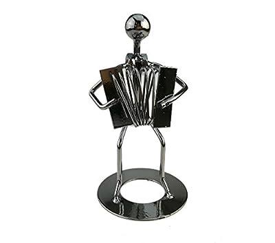 Vintage Iron Art Steel Music Man Figure Performer Home Bedroom Bar Display Decoration Ornament Birthday Gift
