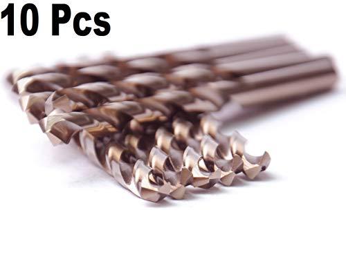 Iron Cobalt - High Speed Steel M35 HSS Cobalt Jobber Length Twist Drill Bits General Purpose HSS Cobalt Drill Bit 135 Deg.Split Point Drilling Steel, Metal, Iron.... (19/64)