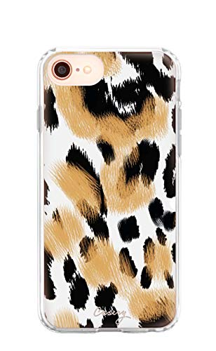 Casery iPhone Case Designed for The Apple iPhone iPhone 6, 6s, 7, 8, Primal Print (Cute Leopard) - Military Grade Protection - Drop Tested - Protective Slim Clear Case