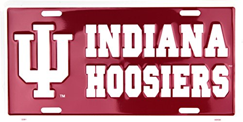 Metal Hoosiers Indiana (Indiana Hoosiers Collegiate Embossed Vanity Metal Novelty License Plate Tag Sign 2281)