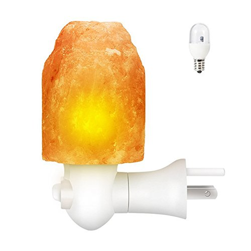 (SODIAL U.S. regulations Natural Multi-color Change Himalayan Salt Night Light Lamp,Mini Hand Carved Night Light for Home Decor)