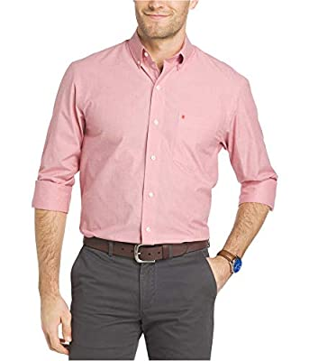 IZOD Men's Performance Natural Stretch Solid Long Sleeve Shirt