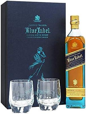 Johnnie Walker - Blue Label 2 x Crystal Glasses Gift Pack - Whisky ...