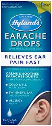 Swimmers Ear Drops for Kids and Adults by Hyland's, Clogged Ears and Allergy Relief, Earache Drops, Fast Natural Homeopathic Pain Relief, 0.33 Ounce