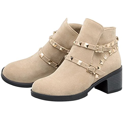 Classic Beige AIYOUMEI Beige AIYOUMEI Classic Women's AIYOUMEI Women's Boot Boot 1xR7pwFZq