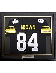 Antonio Brown Autographed Jersey - Framed Black Stock  107966 - PSA DNA  Certified - 1ecebaa93