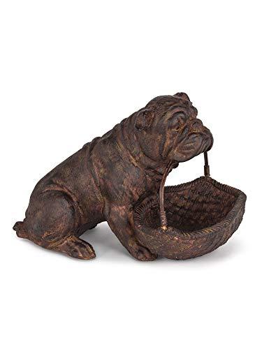 "Sitting Bulldog with Basket 5.5"" Height"