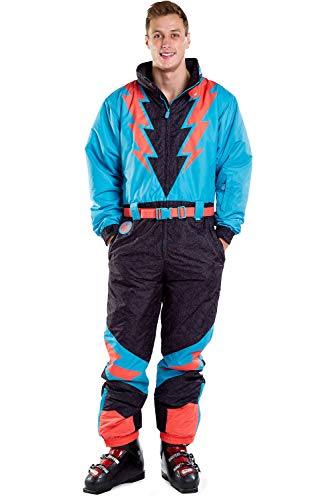 Men's Slope Savage Lightning Bolts Ski Suit Snow Suit Male: XL