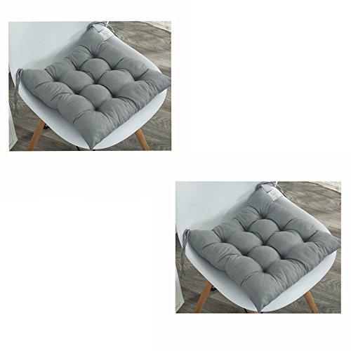 Pack de 2 cojines acolchados para asiento de silla con lazos, diseno acolchado, cojines para sillas de comedor, jardin, cocina, oficina