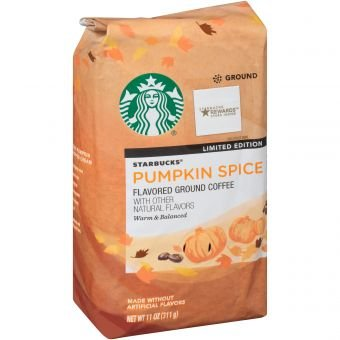 Starbucks Limited Edition Pumpkin Spice Ground Coffee, 11oz {PACK OF 2 BAGS}