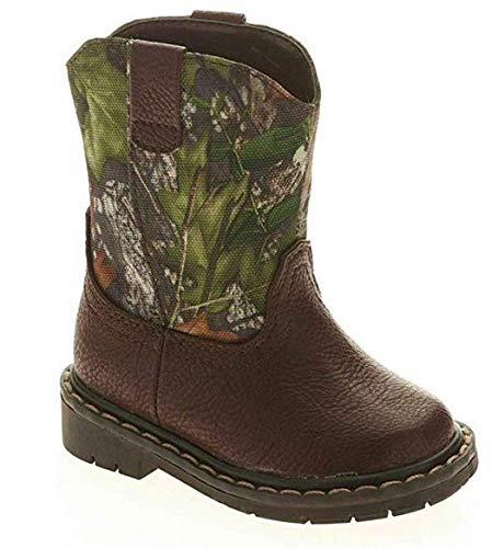Mossy Oak Camo & Brown Toddler Boy Western Boots (9 Toddler)