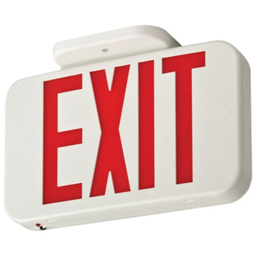 Dc Sign Exit - Lithonia Lighting EXR LED M6 Contractor Select Red Thermoplastic LED Exit Sign