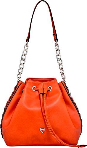 Caleidos - Bolso estilo cartera de Material Sintético para mujer naranja CORAL