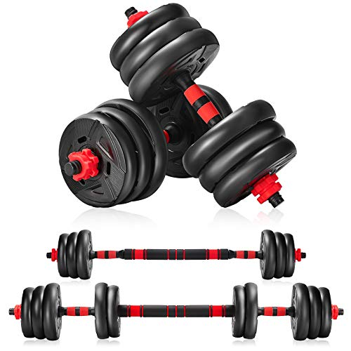 Kunam Weights Dumbbells Set, Barbell Weight Set 66/88Lbs,2-in-1 Dumbellsweights Set, Exercise & Fitness Home Gyms for…