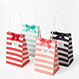 DeemoShop 20 Set Small Gift Bag Handles Bow Ribbon
