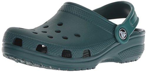 Crocs Kids' Classic Clog, Evergreen, 1 M US Little Kid
