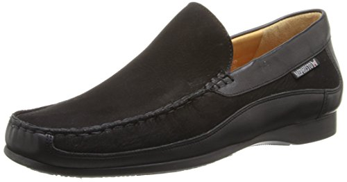 Nubuck Men's Black Slip Calf Loafer Mephisto Baduard on HwYqO4F