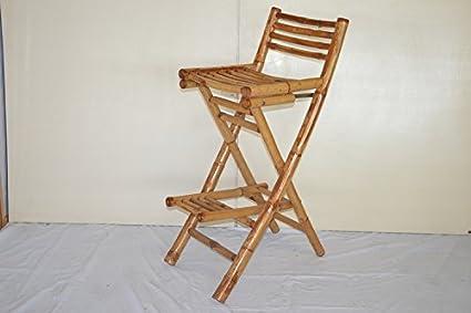Fantasie d oriente sgabello bar bambu pighevole: amazon.it: casa e