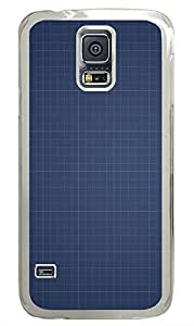 Samsung Galaxy S5 materials blue paper 5 PC Custom Samsung Galaxy S5 Case Cover Transparent