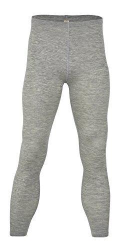 (Engel 70% Organic Merino Wool 30% Silk Men's Leggings. Made in Germany. (Grey, EU 46/48))
