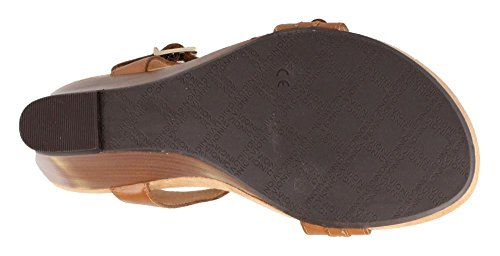 Noble Laurie - Womens Wedge Sandal Tan - 9 Wide