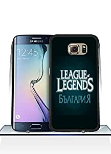 Samsung Galaxy S6 Edge Funda Case, League Of Legends Logo Game Dust Proof Colorful Paint Impact Resistant Simple Pattern Shell Protective Funda Case [Just fit for S6 Edge]