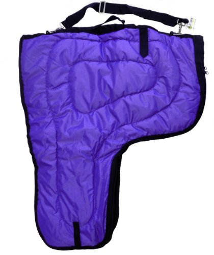 Western Horse Saddle Carrier Cover Large Bag Fully Lined and Padded Purple