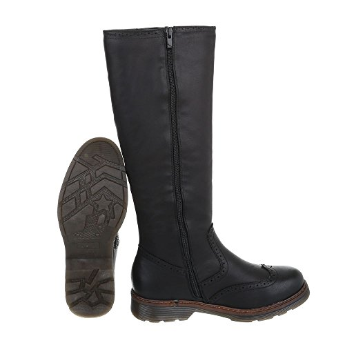 Block Boots Boots Heel Design Black Classic Ital at Women's S5vwqdS