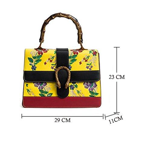 imprimé couleurs bambou main sac 5 de sac poignée JUNBOSI bandoulière en Nouveau sac de rétro femelle à messenger sac Blanc option de à wtHtZfqxO