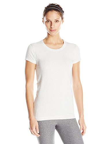 tasc Performance Women's 365 Core Moisture Wick Performance Short Sleeve Tee Shirt, X-Large, Ash Heather (Alo Womens Bamboo)