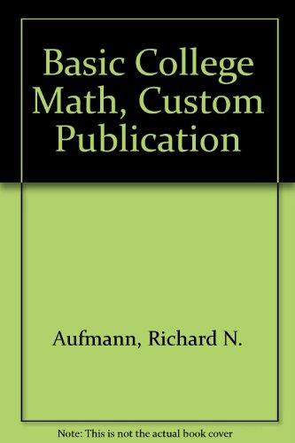 Basic College Math, Custom Publication