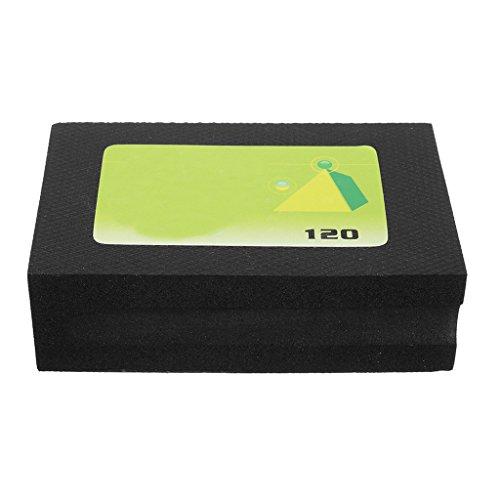 Fenteer Diamond Hand Pads For Marble Concrete Polishing Sanding Blocks Pads 60-3000 Grit - Black, 120 Grit ()