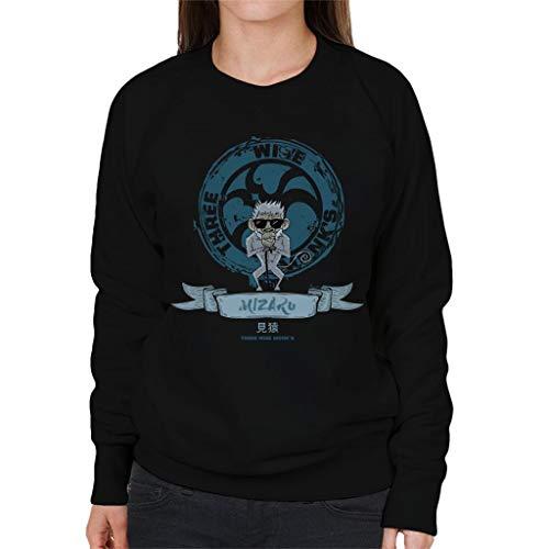 7 7 Black Three Women's Wise Monkeys Mizaru City Cloud Sweatshirt 58Zfqw